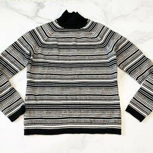 Brooks Brothers Merino Fair Isle Mock Neck Sweater